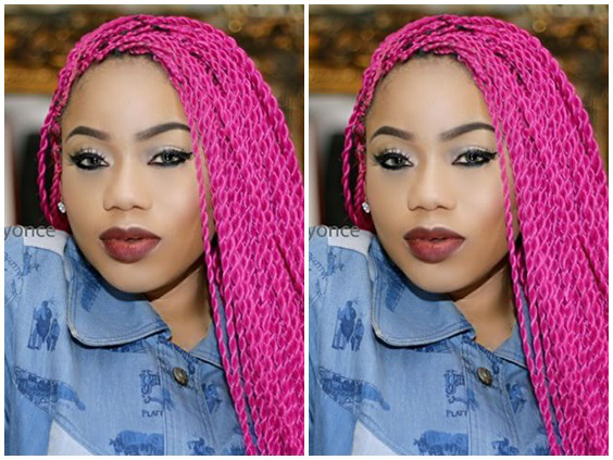 The Fake, The Original, The Empty, The…: Toyin Lawani Shows Off Her Several Perfumes | PHOTO