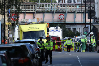 Photo of 18 people hospitalised after London train attack