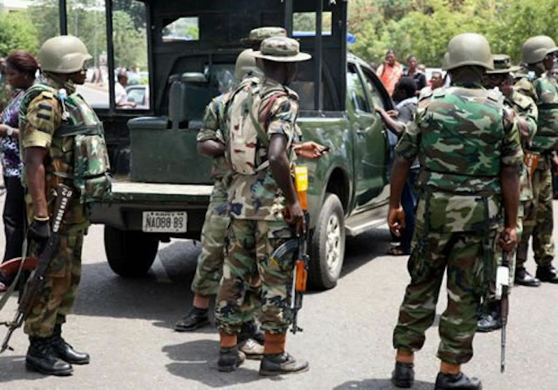 Army arrests bishop, 18 others for robberies