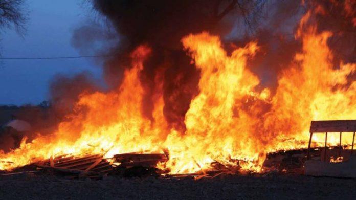 Fire Destroys Major Section Of Maiduguri Fish Market After Close Of Work