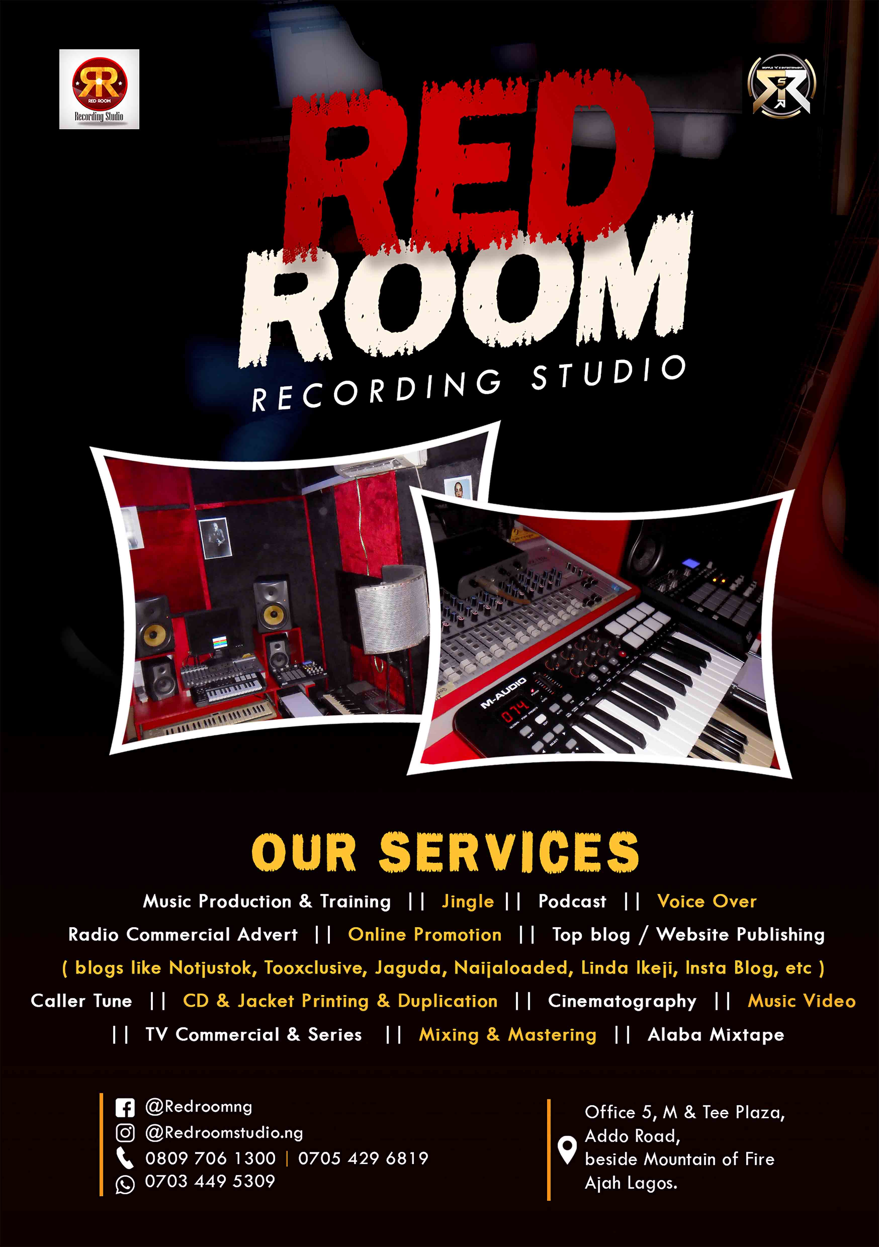Photo of Promo!! Red Room Recording Studio offers 40% discounts!!