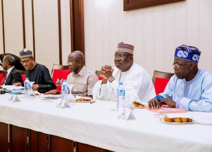 President Buhari Meets APC Caucus As Aso Villa