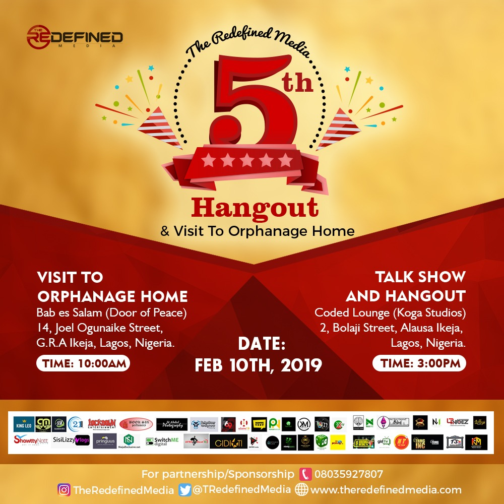 Photo of EVENT: The Redefined Media 5th Hangout & Visit to Orphanage This Sunday