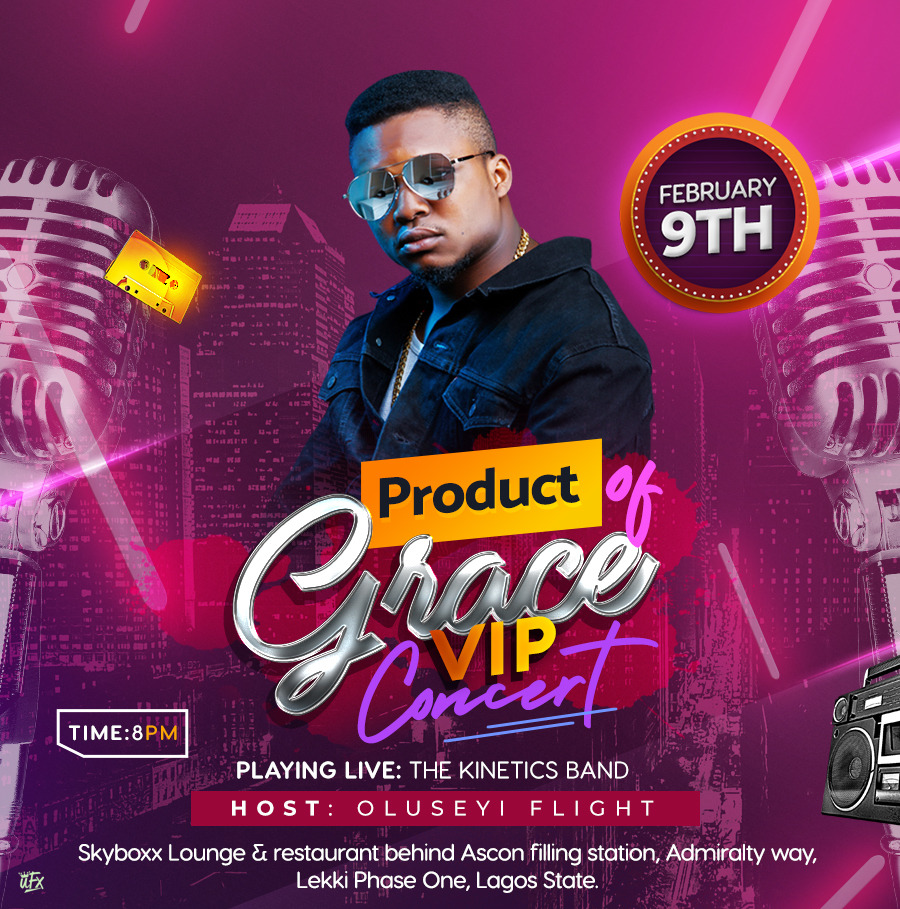 Photo of Oluseyi flight hosts Product of grace VIP concert 9th February 2019