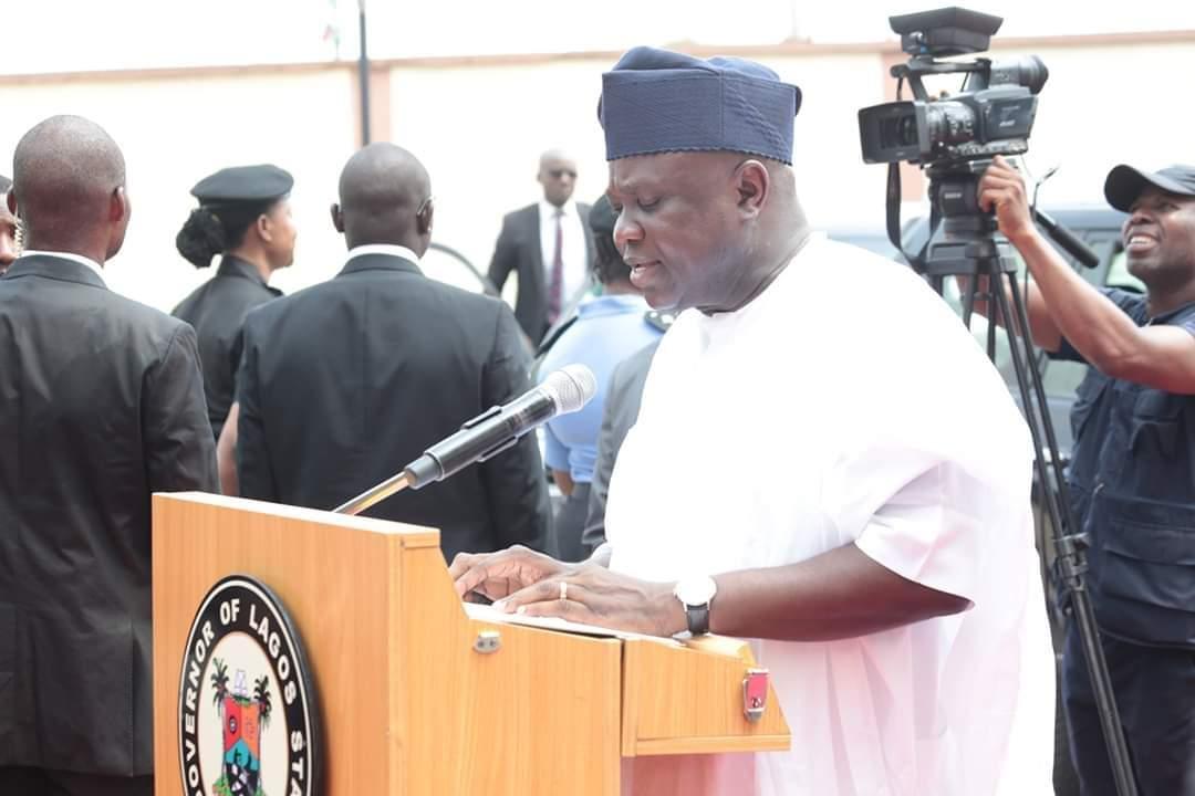What Ambode said as Buhari inaugurates Ayinke House