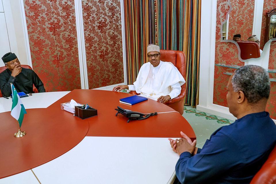 Buhari, Osinbajo meet over xenophobia as Nigeria boycotts WEF in South Africa