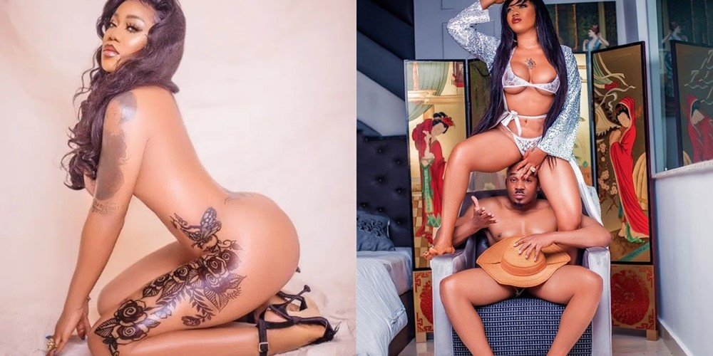 Toyin Lawani, Pretty Mike share risque nude pictures (+18 Photos)