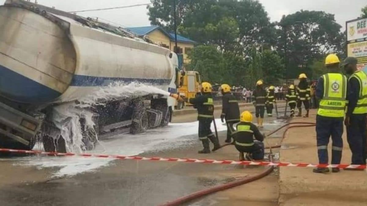 Another petrol tanker falls in Anambra
