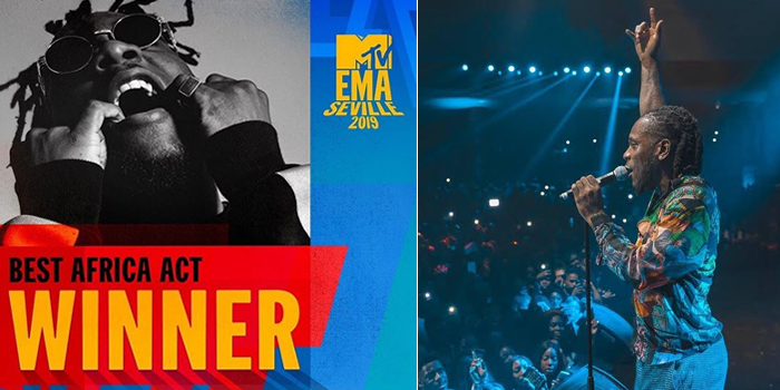 "Photo of Burna Boy wins ""Best African Act"" Award at 2019 MTV EMA Awards"