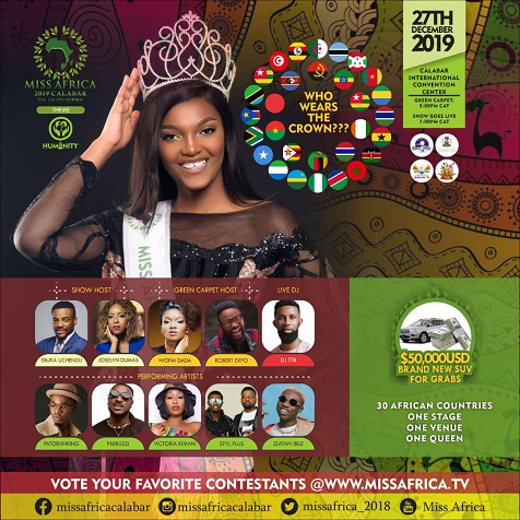 Photo of Zlatan, Perruzi & Patoranking Confirmed For Miss Africa 2019 In Calabar