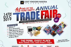 LAGOS IS ABOUT TO BE SHUT DOWN @legitvendors tradefair on the 14th of December