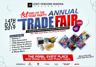 Photo of LAGOS IS ABOUT TO BE SHUT DOWN @legitvendors tradefair on the 14th of December