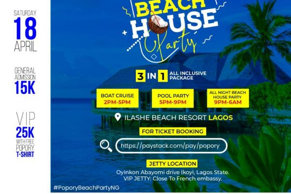 Popory Nation Is bringing the vibe home with #PoporyBeachPartyNG