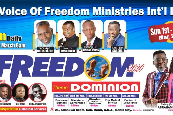 "VFM's Freedom returns in 2020, themed ""Dominion"""