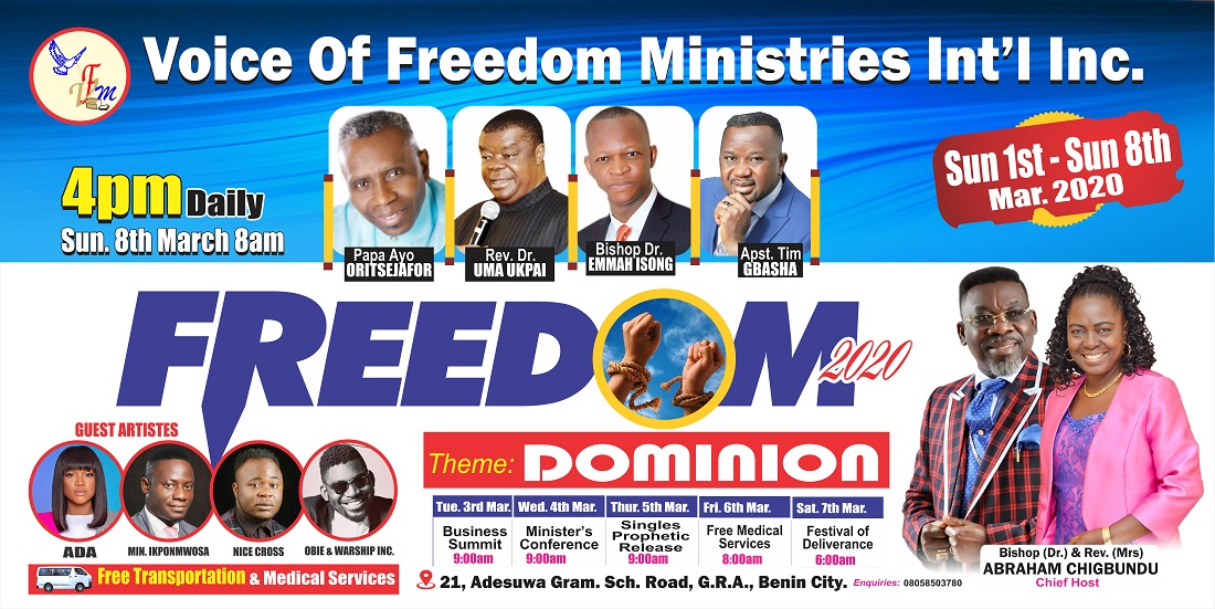 "Photo of VFM's Freedom returns in 2020, themed ""Dominion"""