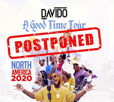 Photo of Davido Cancels US Tour Over Coronavirus Outbreak