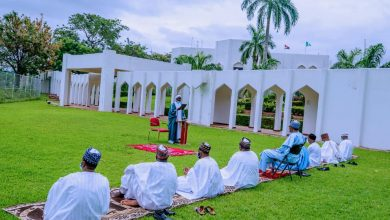 Photo of Buhari Observes Eid Prayers From Home With Family | Photos