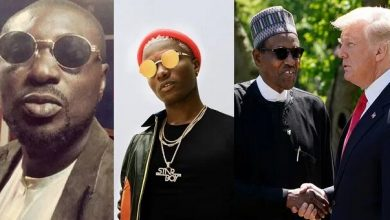 "Photo of ""Children of Nowadays Dem No Get Respect"" – Blackface Savages Wizkid For Disrespecting President Buhari & Donald Trump"