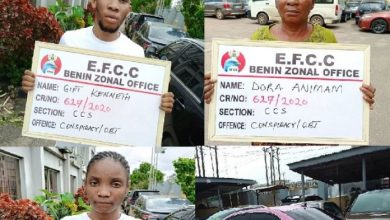 Photo of PHOTO: EFCC Arrests Son, Mother, Girlfriend For Internet Fraud