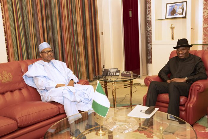 Buhari, Jonathan In Closed-door Meeting