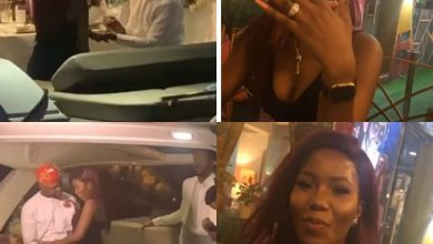 Photo of Debola Williams engages partner on the boat