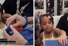"Photo of ""Your Daddy Is Rich"" Davido Tells His Second Daughter, Amanda (Video)"