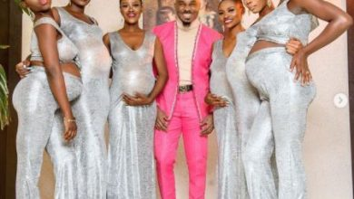 Photo of Pretty Mike attends Williams Uchemba's wedding ceremony with pregnant women