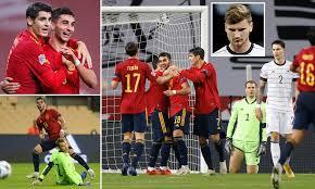 Photo of Spain humiliate Germany 6-0 to reach UEFA Nations League final four
