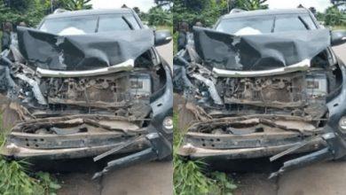 Photo of Former Cameroon Football Samuel Eto'o Involved In Car Crash