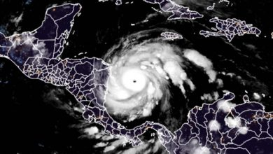 Photo of Hurricane Iota, Category 4, likely to hit storm-ravaged Central America