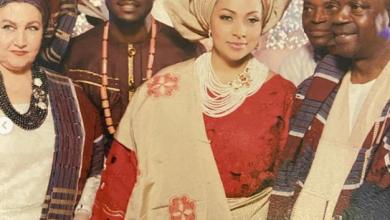 Photo of Lola, Peter Okoye's wife loses father