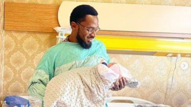 Photo of D'banj Shares New Photos with His New Born Baby