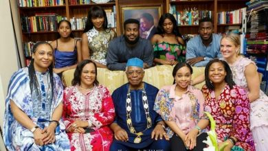 Photo of Family Photo of Former Miss World, Agbani Darego with Her In-Laws, the Danjumas