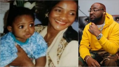 Photo of Davido shares love letter he composed for late mum