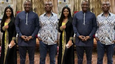 Photo of Regina Daniels and Her Husband Host Keyamo in Their Abuja Mansion