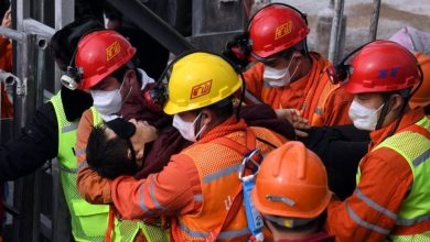 Photo of 11 miners brought to surface alive