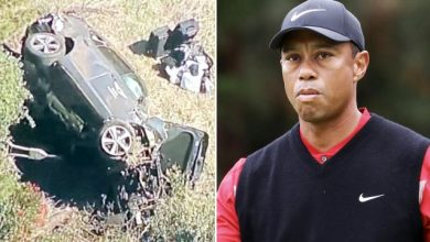 Photo of Tiger Woods suffers multiple leg injuries in single-car accident in Los Angeles