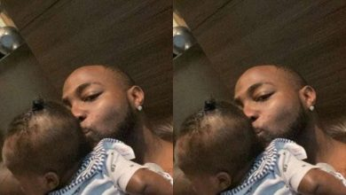 Photo of Davido Shows off Customized Blanket with the Face of Ifeanyi