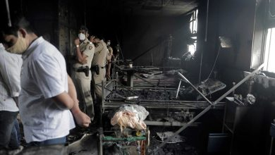Photo of Fire kills 13 Covid-19 patients at Indian hospital