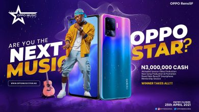 Photo of Win N3million Cash, OPPO Reno5F Smartphone, Recording Deal and Mentorship in Next OPPO Music Star Contest