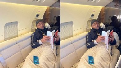 Photo of Davido Jets Out Of U.S to Ghana Amidst Kissing Saga