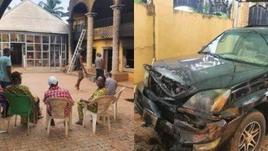 Photo of Unknown Gunmen Razed Palace of Igwe Ifitedunu in Dunukofia