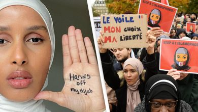 Photo of Hands off my hijab! Young Muslim women protest proposed French ban
