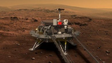 Photo of Chinese lander touches down on Mars in 'pre-set zone' in Beijing's first mission to Red Planet