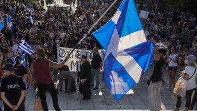 Photo of Greek protesters clash with cops over COVID-19 vaccines