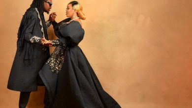 Photo of Toyin Lawani's Husband Gets Tattoo of Her Son on His Chest