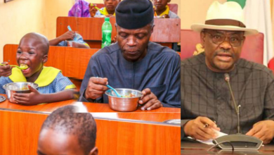 Photo of Buhari Begs Wike To Let Rivers Pupils Enjoy Free Meals