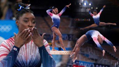 Photo of Tokyo 2020: USA's Simone Biles wins balance beam bronze in return