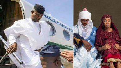 Photo of UPDATES: Osinbajo Arrives For Buhari's Son Wedding