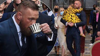 Photo of McGregor enjoys son's christening at Vatican